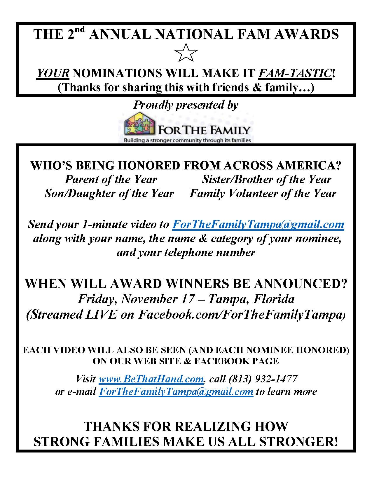 For The Family - FAM Awards 2017 Framework Page 2