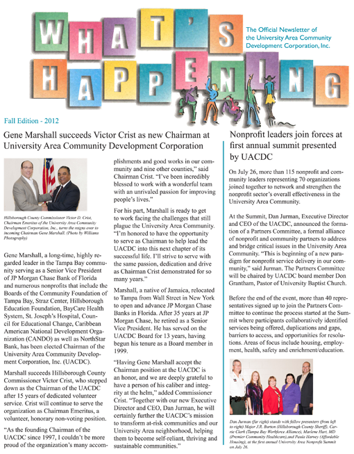 "UACDC ""What's Happening"" Newsletter"